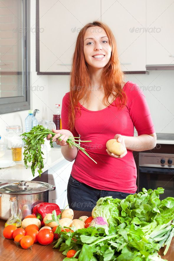 woman with fresh vegetables ...  20-30, 20s, Veggie, abundance, active, adult, beautiful, celery, cheerful, cook, cooking, cuisine, domestic, female, food, girl, greens, happy, heap, home, house, housewife, interior, kitchen, lettuce, long, long-haired, many, onions, parsley, people, pepper, peppers, person, pile, portrait, positive, positivity, smile, vegetables, vegetarian, veggy, woman, young