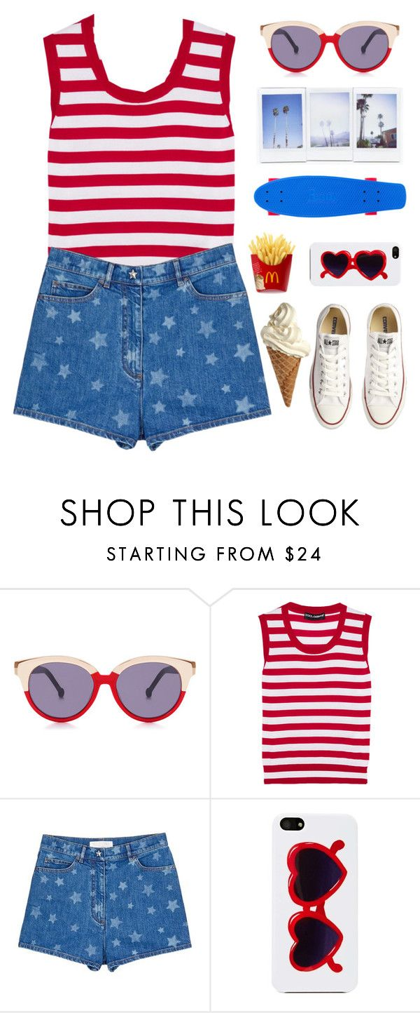 """JULY 4TH"" by marianne-david-17 ❤ liked on Polyvore featuring Preen, Dolce&Gabbana, Valentino, Bando, Converse, sets, fashionset and setsbymariannedavid"