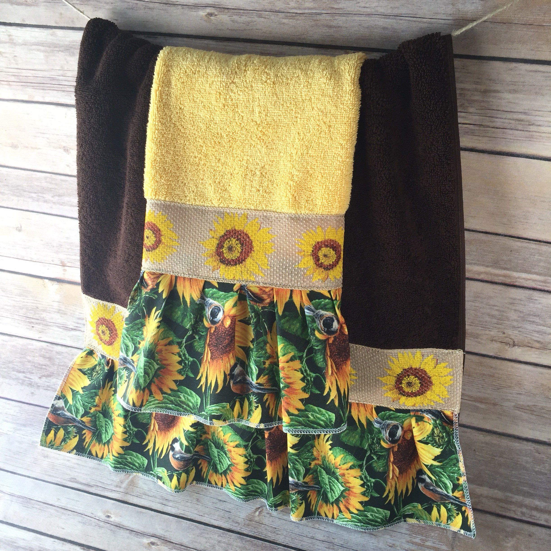 Ruffled Towel custom guest decorative embellished towels