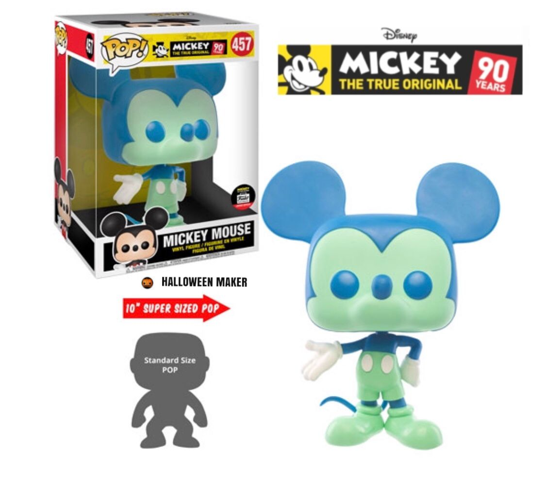Funko Pop Vinyl Blue And Green 10 Inch Mickey Mouse No 457 Unboxing Review Walt Disney 90th Anniversary Mickeymouse Blueandgr Funko Pop Funko Pop Vinyl Funko