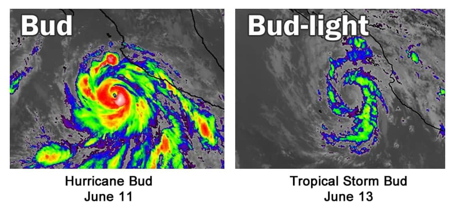 The Category 4 Hurricane Named Bud Collapsed In Spectacular Fashion Hurricane Names Tropical Storm Wind And Rain