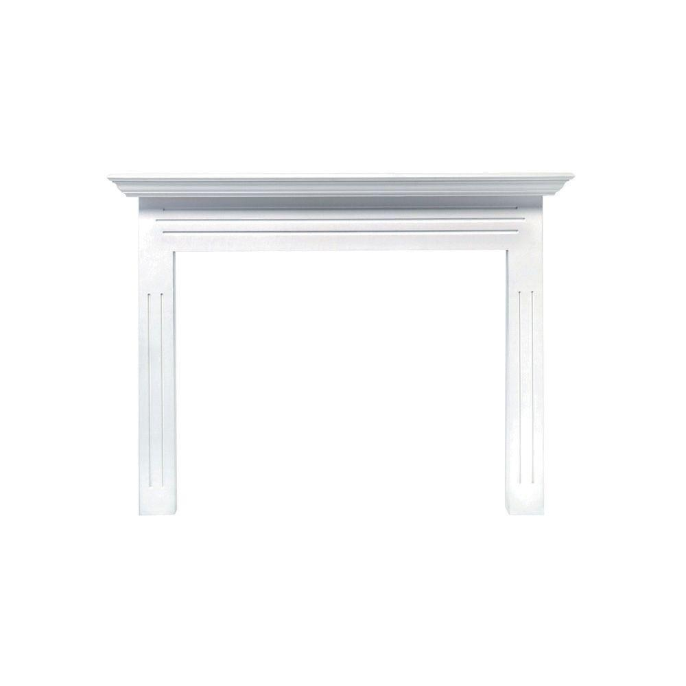 Pearl Mantels Newport 65 In X 51 In Mdf White Full Surround