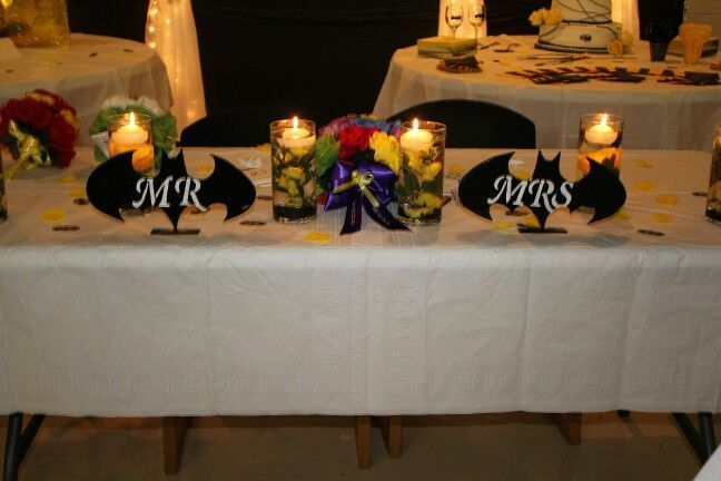Bride and groom table Mr. & Mrs.