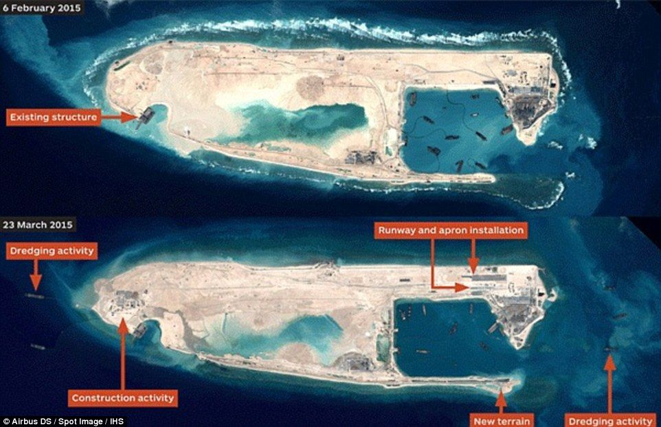 Philippines Seeks Southeast Asian Unity Denouncing China - Recent satellite pictures
