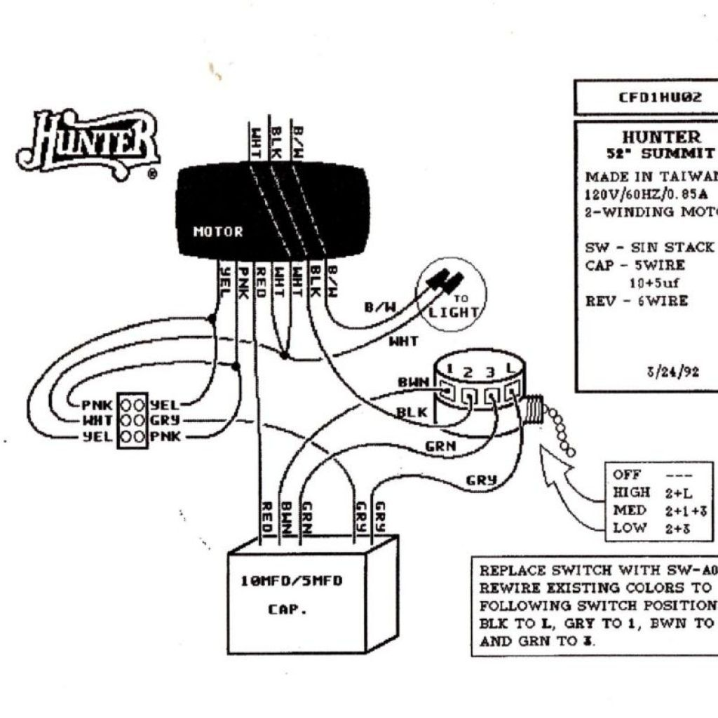 hunter fan switch wiring diagram
