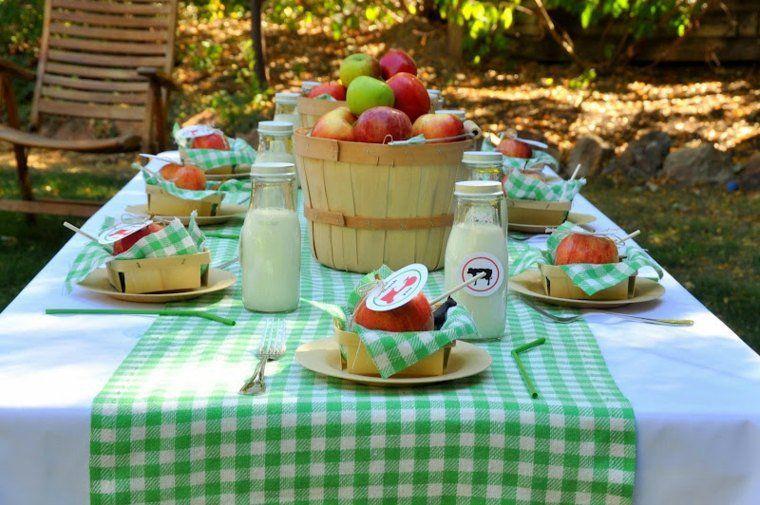 Decoration De Table Pour Anniversaire D Ete Sur Le Theme De