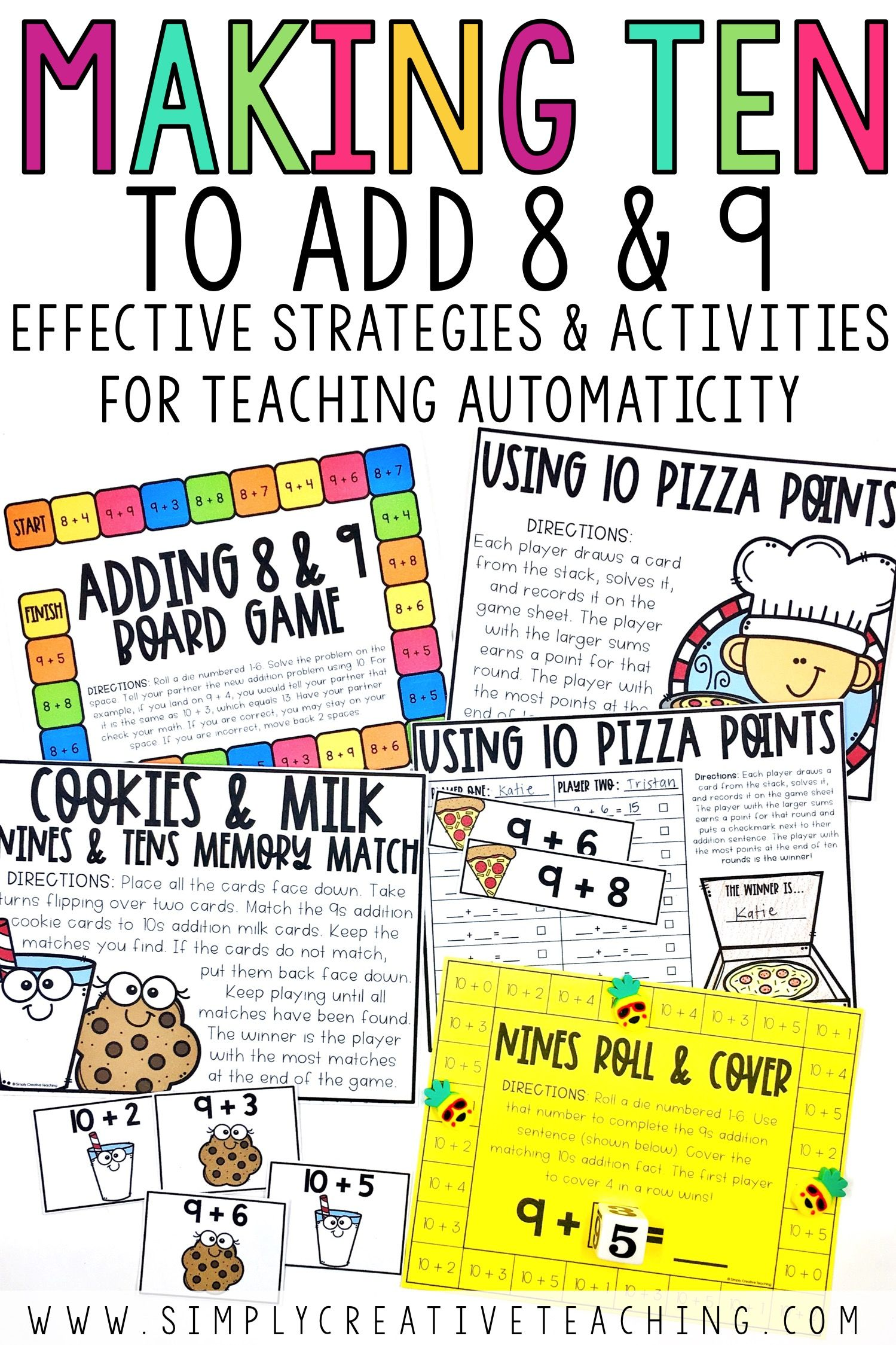 Addition Fact Fluency Strategies Simply Creative Teaching Fact Fluency Games Addition Fact Fluency Addition Facts How to teach addition facts to 10