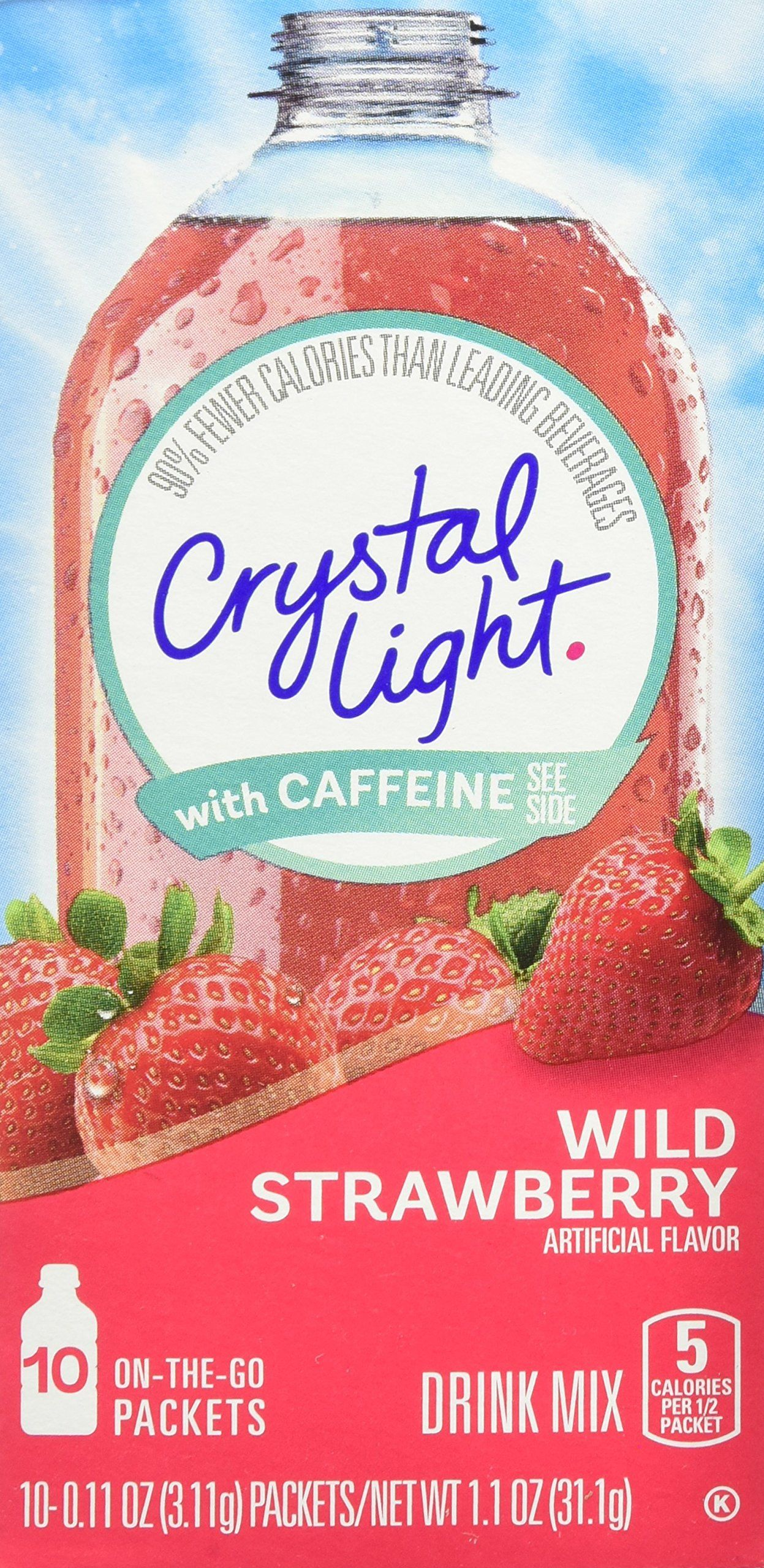 Crystal Light On The Go Drink Mix Wild Strawberry 10 Count Find Out More About The Great Product At The Image Strawberry Drinks Mixed Drinks Healthy Drinks
