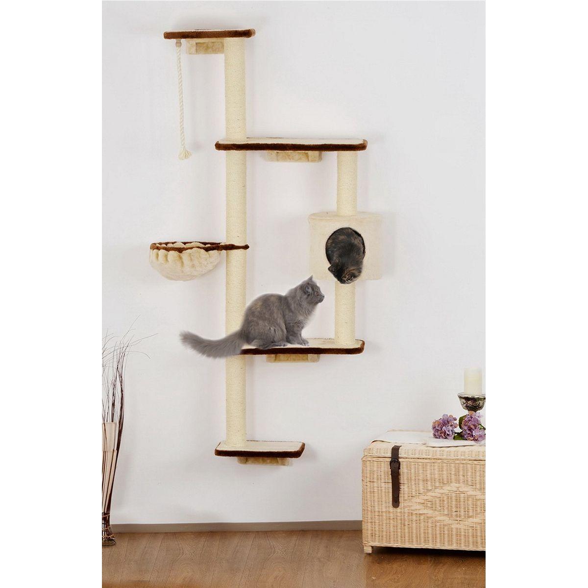 ein kratzbaum zur befestigung an der wand rauf und runter kann katze hier toben ohne dass der. Black Bedroom Furniture Sets. Home Design Ideas
