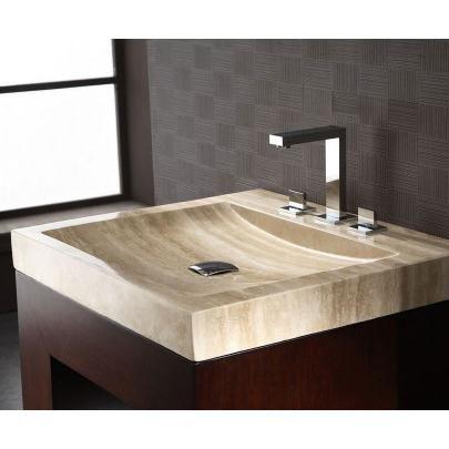 Xylem Svt240tr 24 Inch Stone Vanity Top With Integrated Bowl Beige Travertine Stone Bathroom Sink Bathroom Sink Design Bathroom Vanity Tops