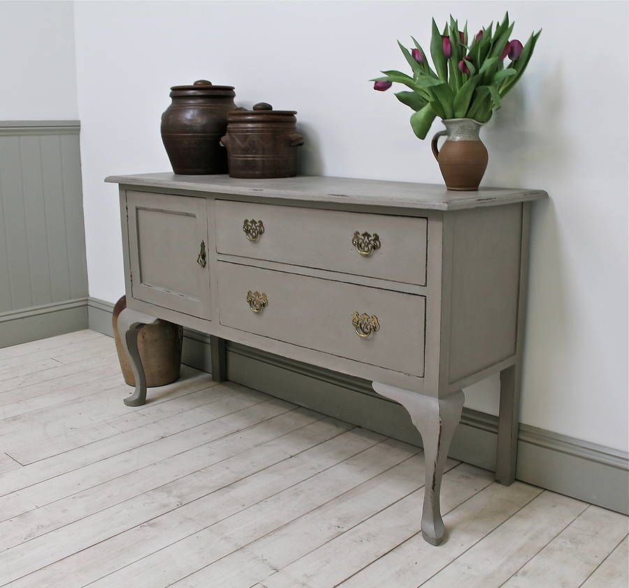 Distressed Victorian Painted Sideboard - Distressed Victorian Painted Sideboard Victorian, Painted