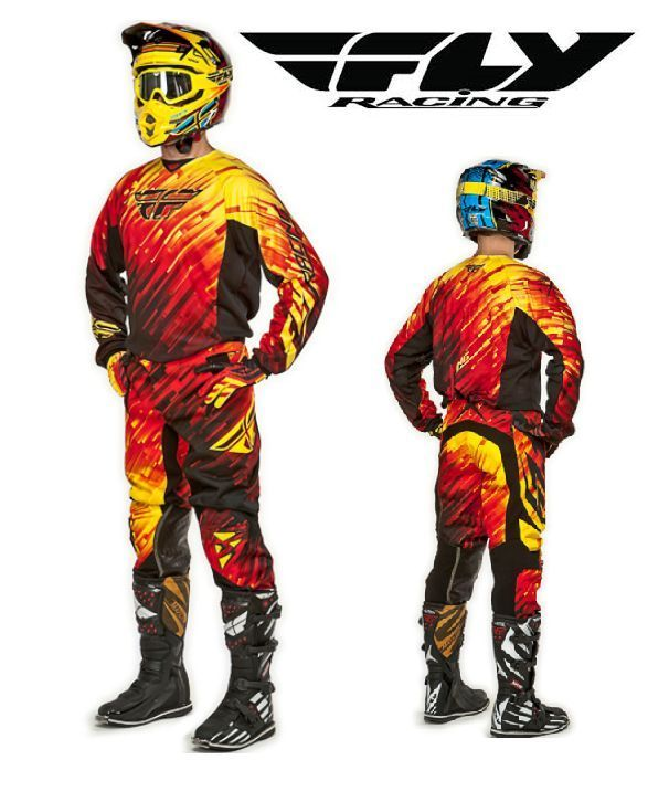 Fly Racing 2015 Mx Kinetic Glitch Red Riding Jersey Pant Glove Combo Motocross Flyracing Bmx Racing Motocross Gear Dirt Bike Gear