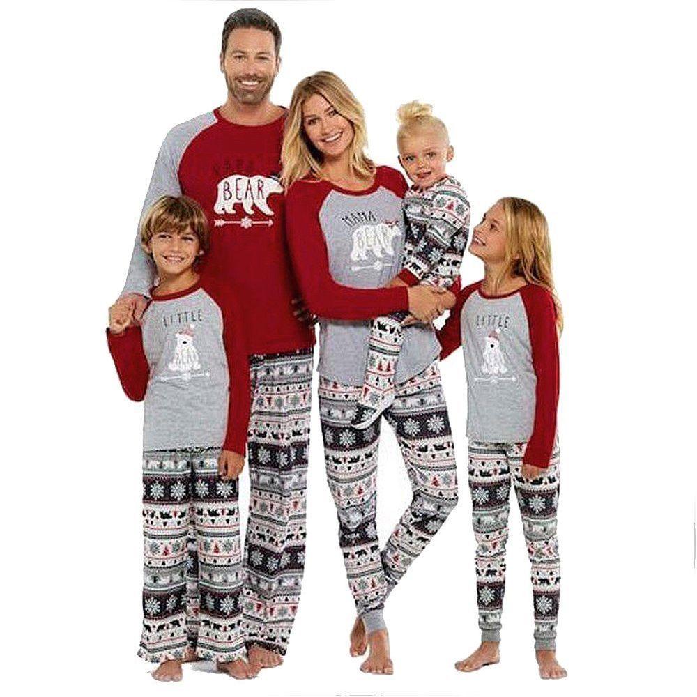 Family Christmas Soft Pajamas Mama Little Papa Bear Top  Fair Isle Bottoms  Mediu  SESY  Doesnotapply bac0a493e
