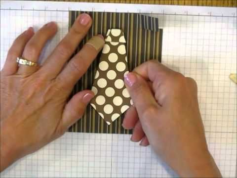 This is an easy to follow tutorial for a shirt & tie card using Mocha Morning DSP. Perfect masculine card for Father's Day!