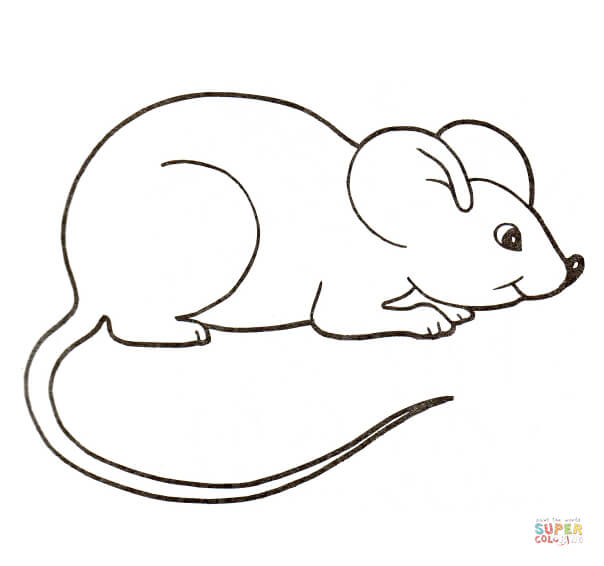 mouse clipart Google Search Mouse drawing, Coloring