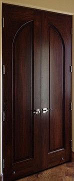 Mediterranean Doors - Custom Solid Wood Radius 1-Panel Double Door - mediterranean - interior & Mediterranean Doors - Custom Solid Wood Radius 1-Panel Double Door ...