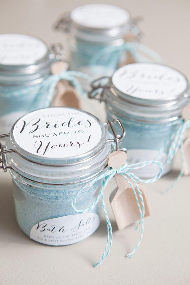 diy how to make your own bridal shower bath salt favors free label download