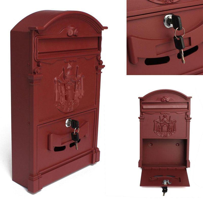 Details about Vintage Cast Postal Mail Box Mailbox Letter