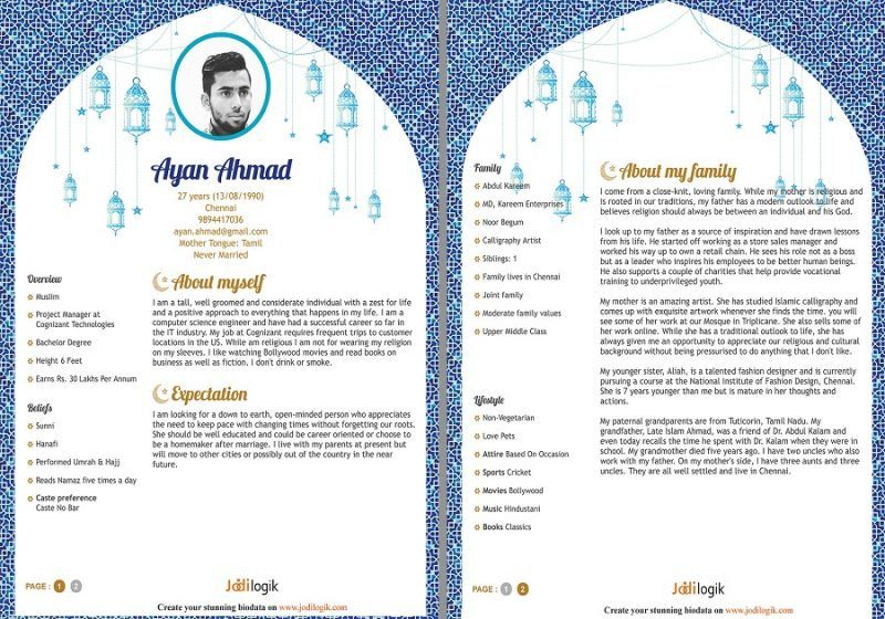Biodata For Marriage Proposal FREE Templates, Tips