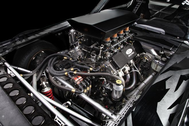 When Block chose to build an all-wheel-drive Mustang a Roush