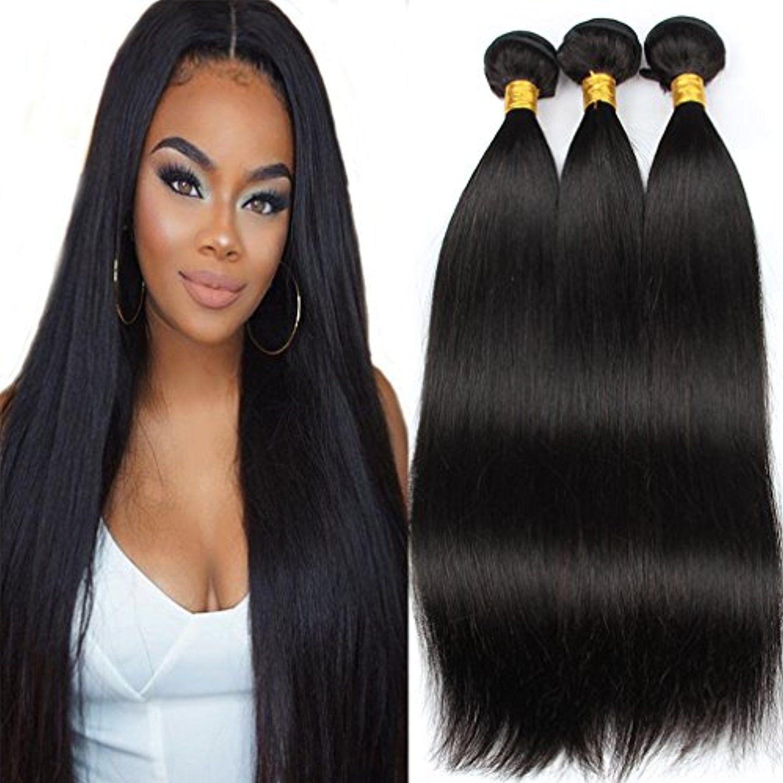 Colorful Bird Hair Brazilian Virgin Hair Straight Weave 3 Bundles