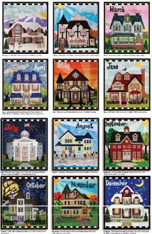 June Holiday House Golf Pro Shop Quilt Pattern by Zebra Patterns at KayeWood.com