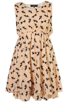 BIRD CHIFFON DRESS BY YUKI** / topshop