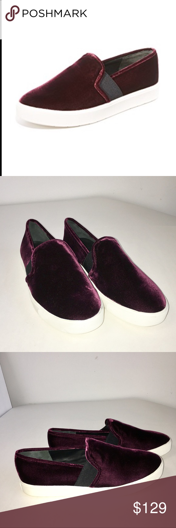 a305162728ae Vince Blair - 12 Velvet Skate Sneaker Oxblood A great pair of Vince  Blair-12 Velvet Skate Sneakers in Oxblood. These are oh so stylish and are  great to add ...