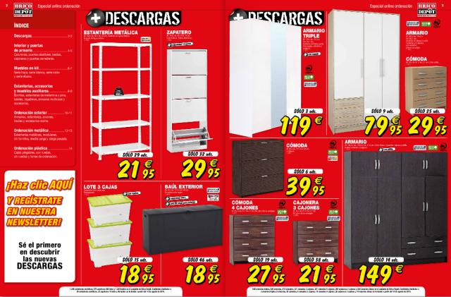 BRICO DEPOT | CATÁLOGO ARMARIOS Y ALMACENAMIENTO | Catalogos ...