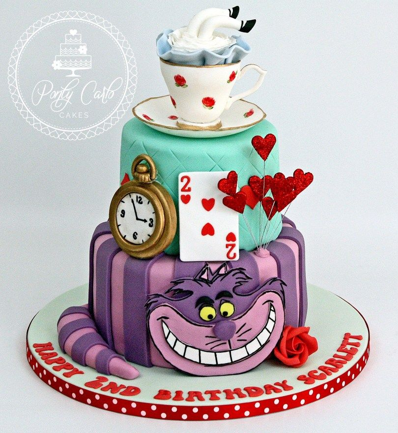 Cool 25 Marvelous Picture Of Alice In Wonderland Birthday Cake Alice Personalised Birthday Cards Cominlily Jamesorg