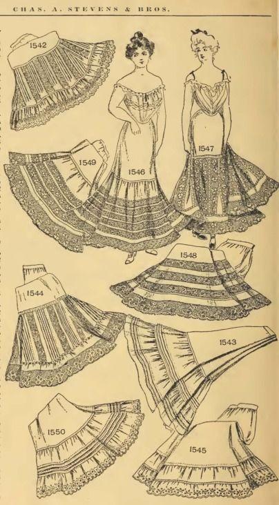 Edwardian era underskirts fashion xiii edwardian and - Dessin costume ...
