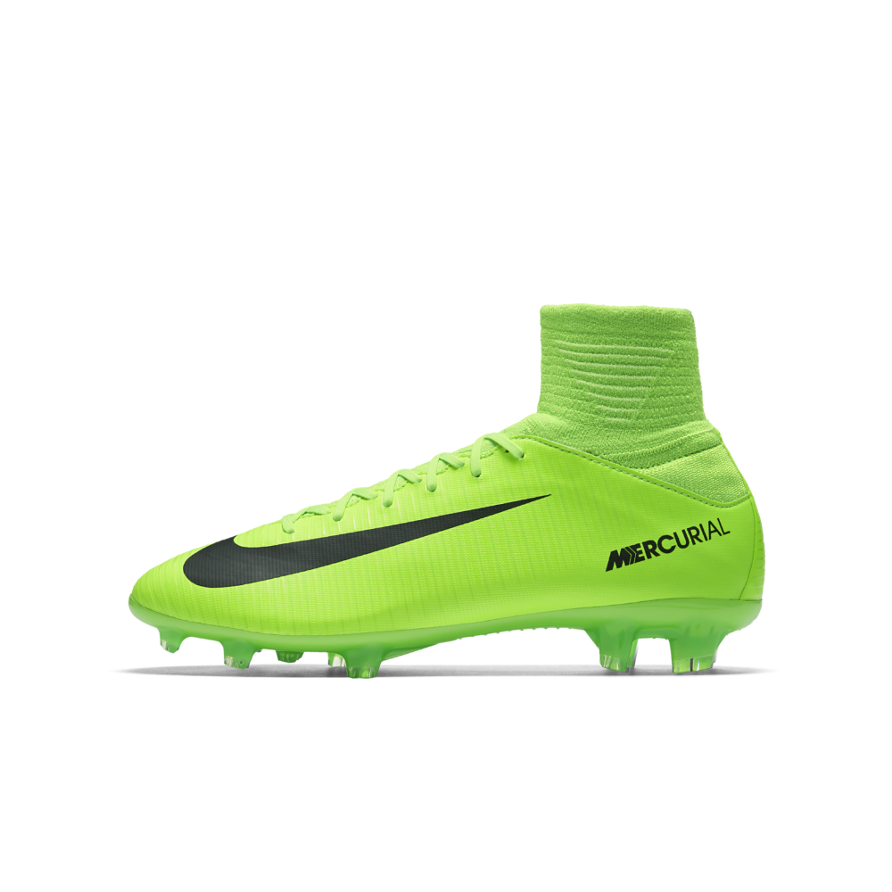 7531c39210c Nike Jr. Mercurial Superfly V Big Kids  Firm-Ground Soccer Cleats Size 4.5Y  (Green) - Clearance Sale