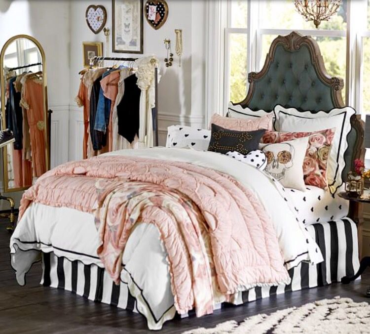 Pottery Barn Teen @pbteen Created A Fun And Sassy Bed Room For A Teen Or  Adult With Great Taste. Every Lady Could Use Some Bling, Stars, Stripes,  Flowers, ...