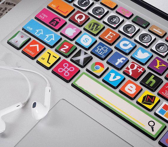 MacBook Pro Sticker Apple logo Decal Keyboard Skin