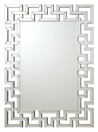 901786 Interlocking Squares Border Rectangular Frameless