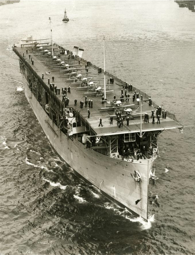 USS Langley (CV1) was the first US aircraft carier  Here she