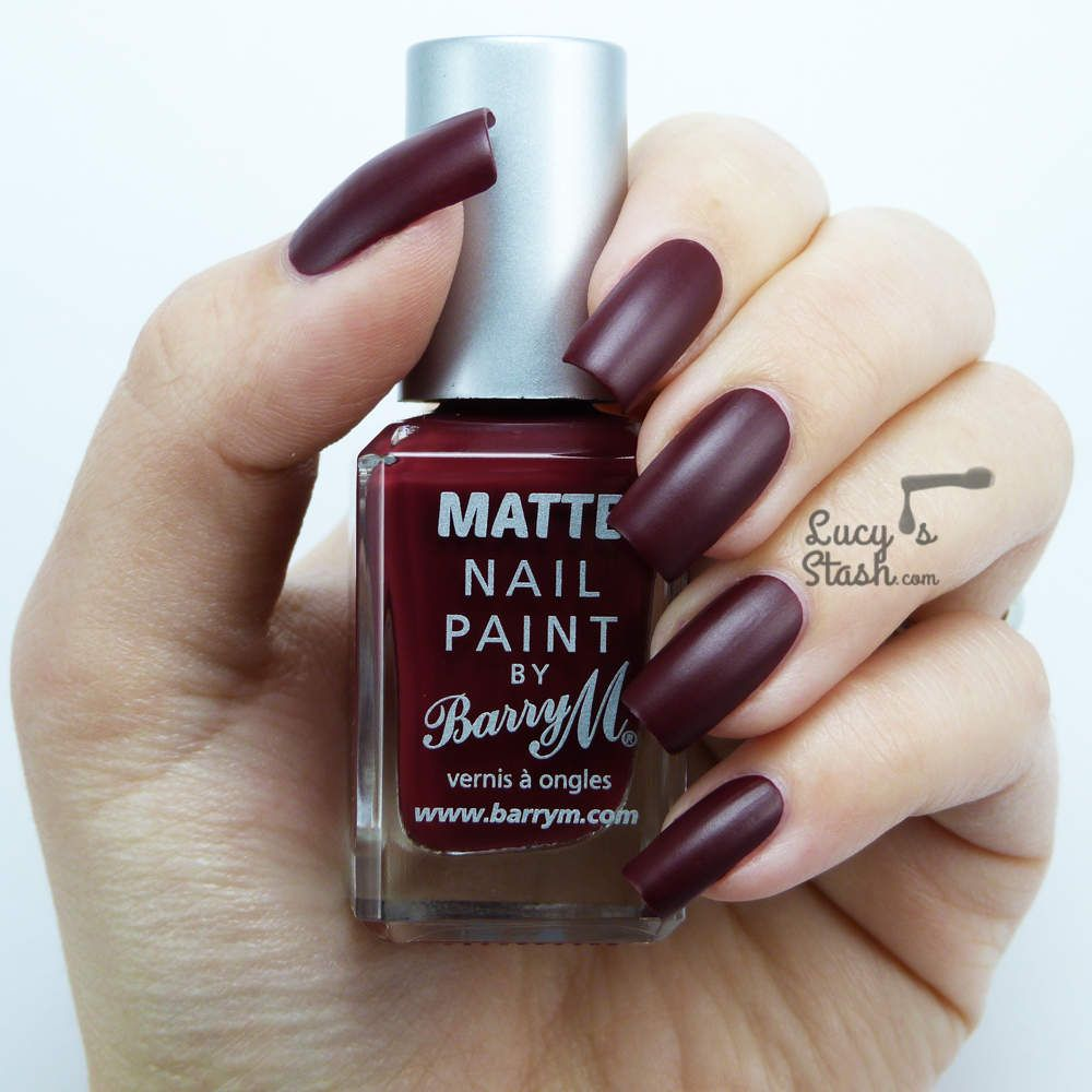 Barry M Matte: Crush - Review and Swatches... a dark red matte from ...