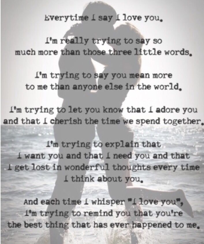 Love Means More Than 3 Words Quotes Pinterest Love Quotes I
