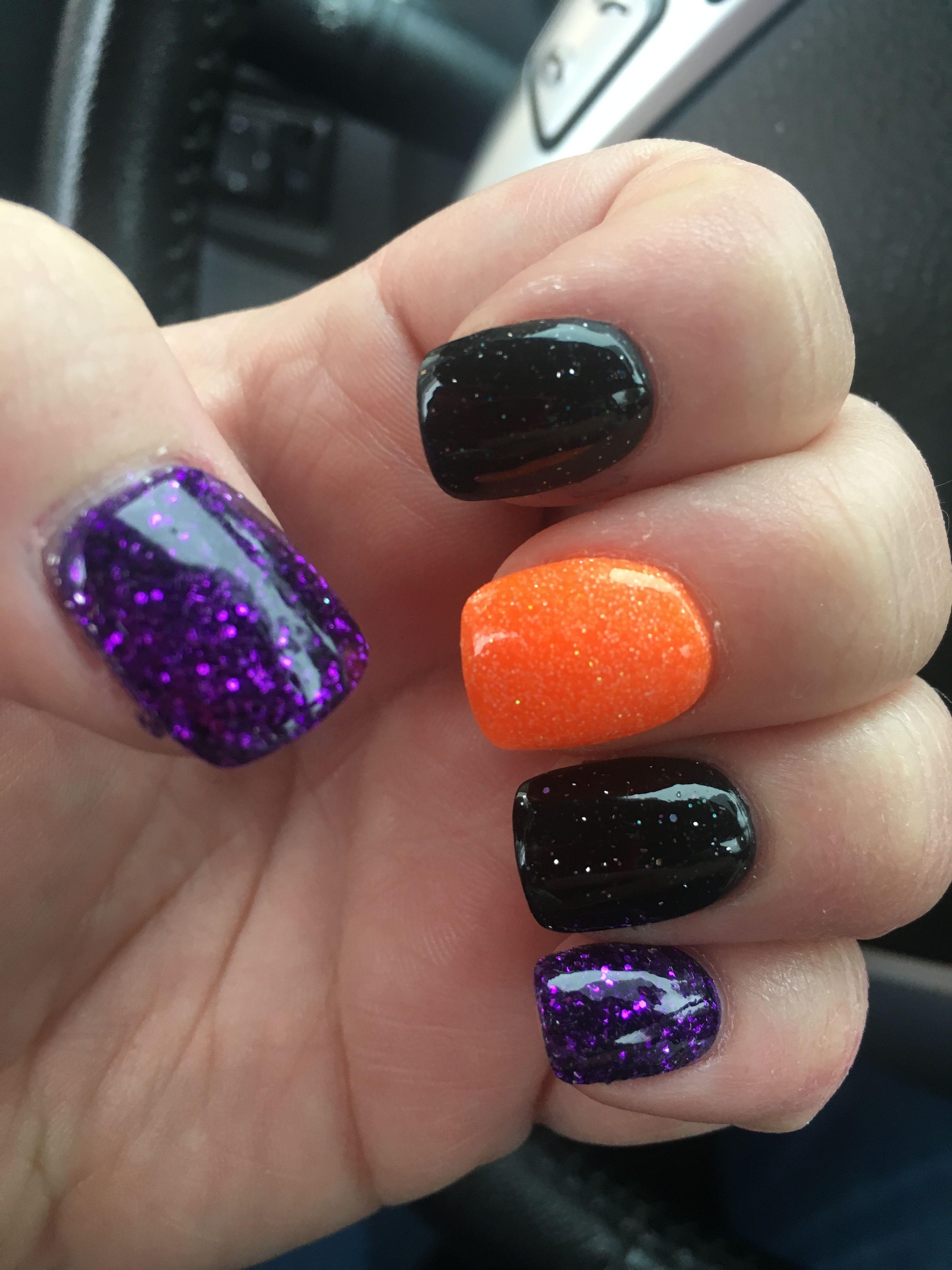 Halloween NexGen dipping powder nails 🍁🎃👻 in 2019 | Powder ...