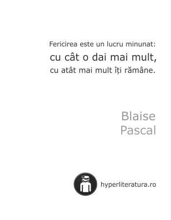 Fiecare om cauta fericire Pascal