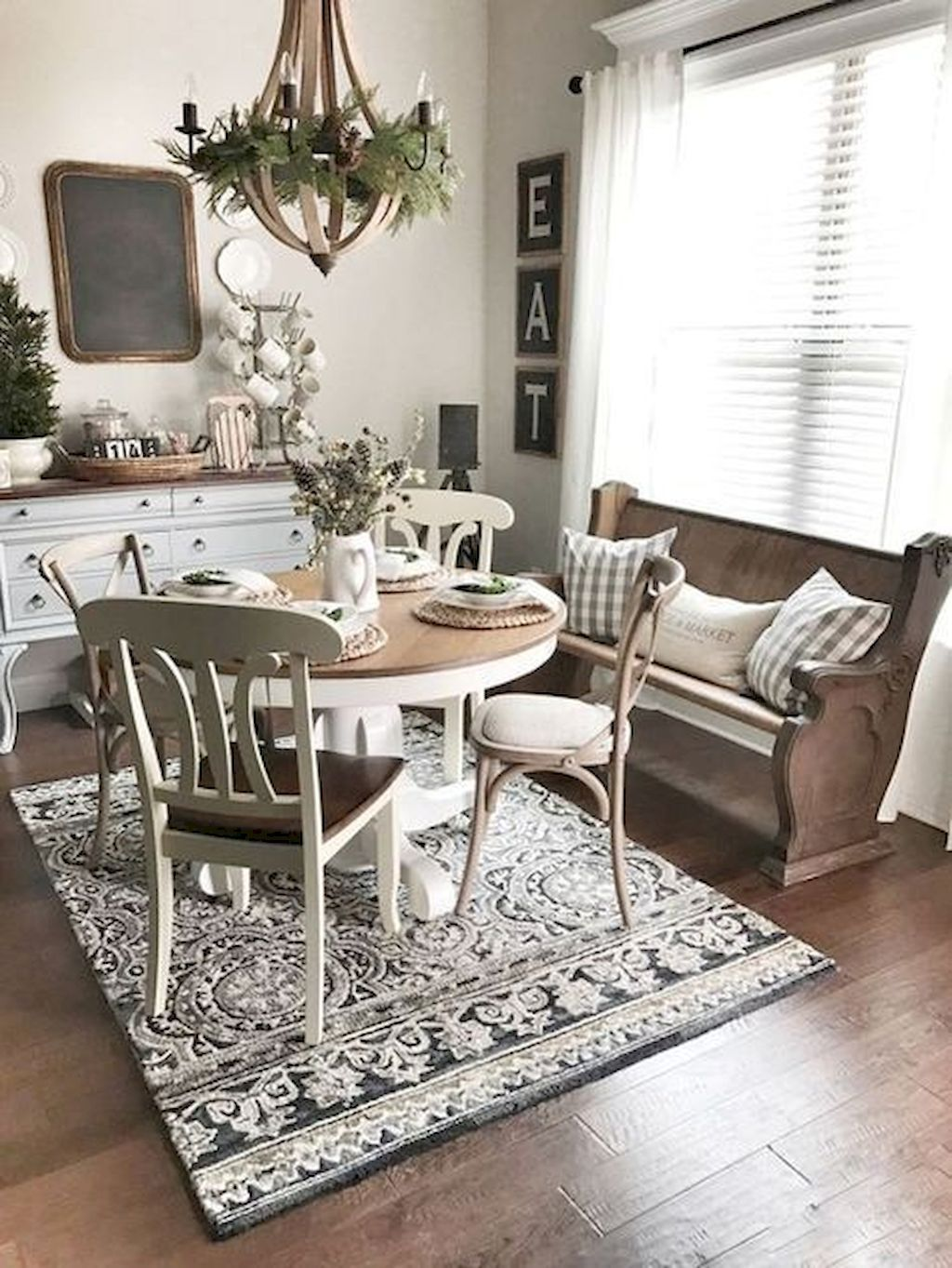 Awesome 80+ Stunning Rustic Farmhouse Dining Room Set Furniture ...