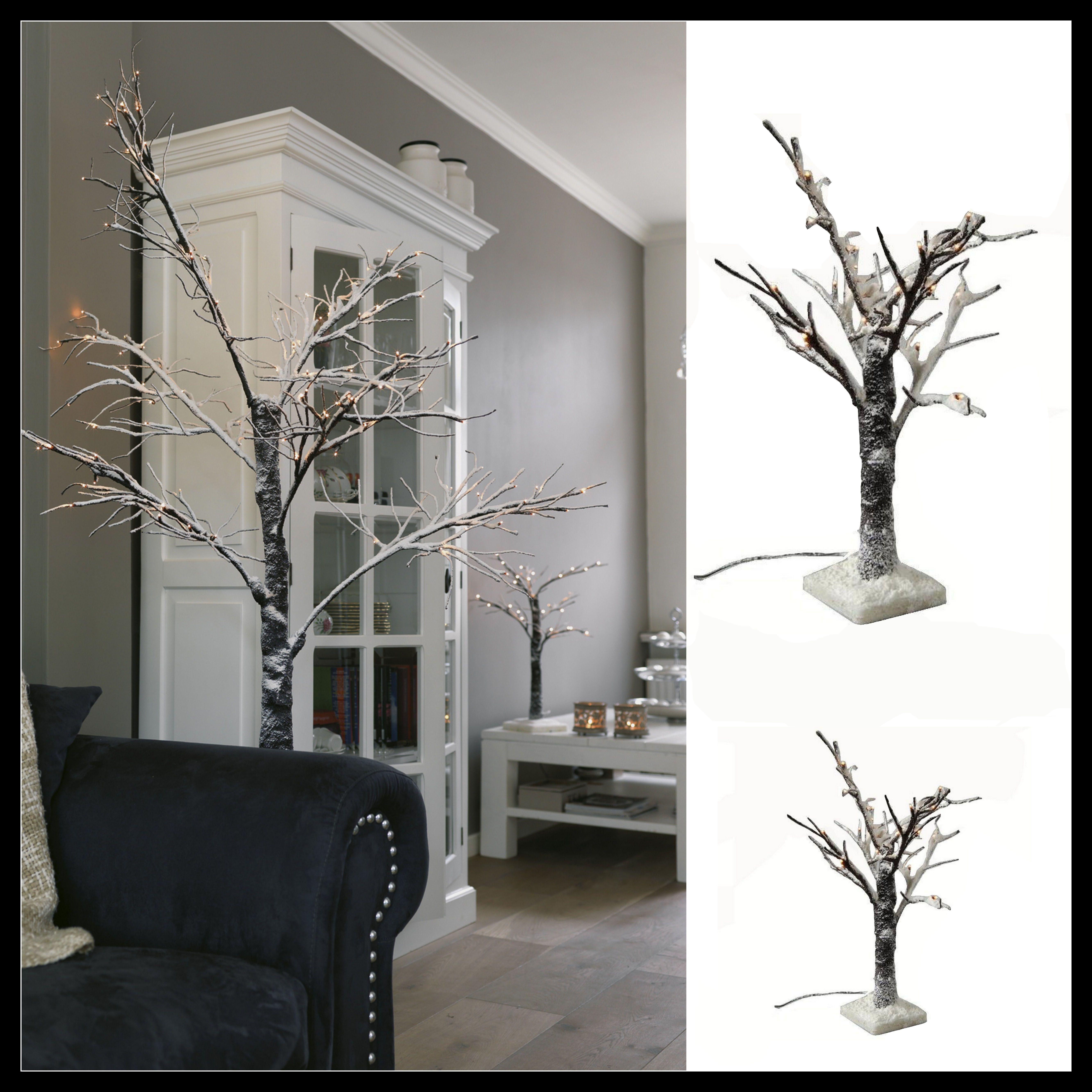 Rbol de navidad original rbol efecto ramas secas sin hojas rbol con luces de navidad rbol - Arbol de navidad nevado artificial ...
