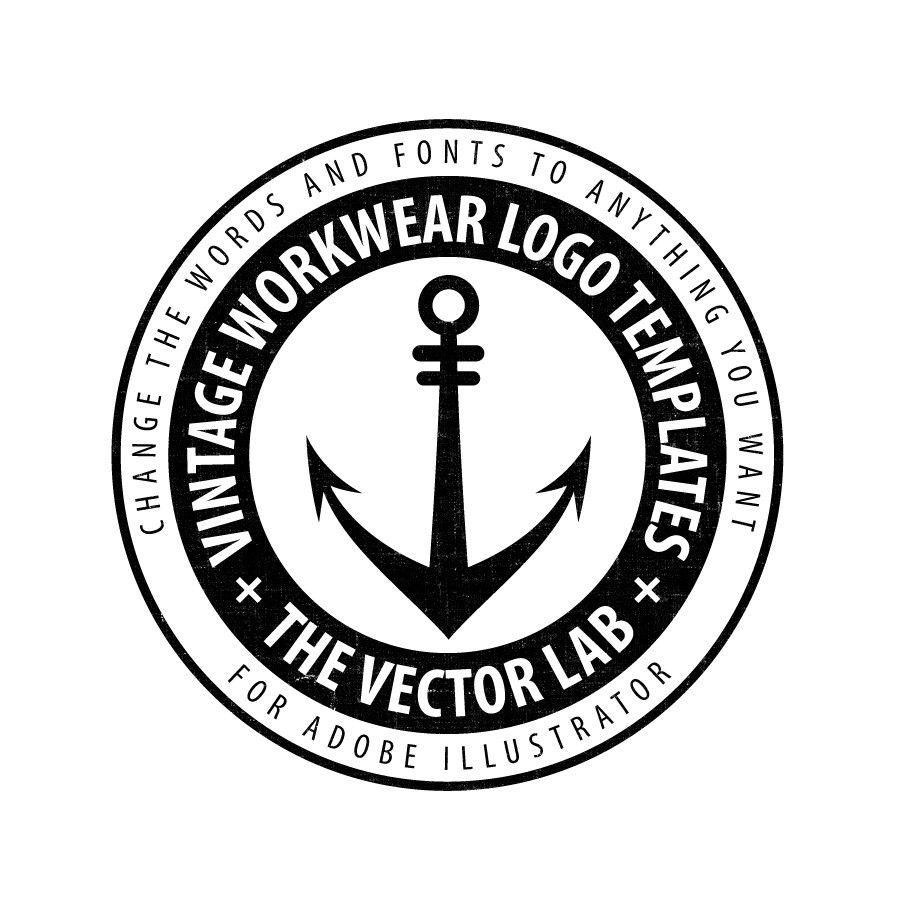 Vintage Workwear Logo Templates for Photoshop and Illustrator ...