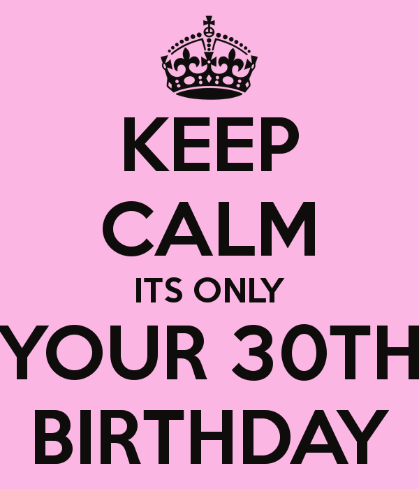 Keep Calm Its Your 30th Birthday