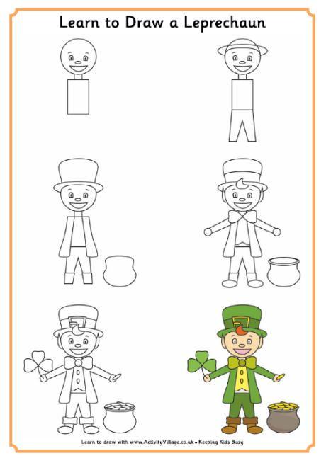 Learn to Draw a Leprechaun | art | Pinterest