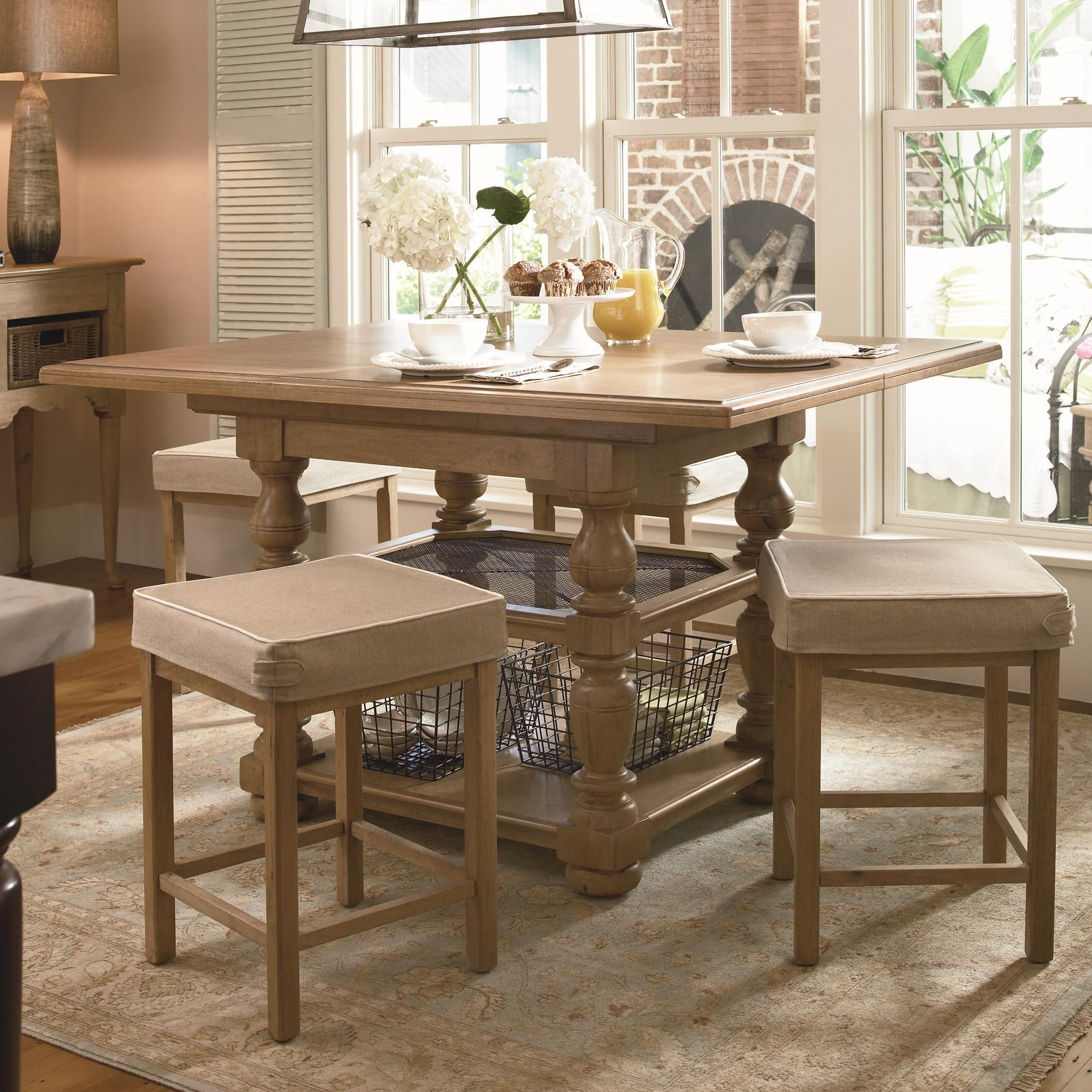 Down Home Gathering Table W/ Counter Stools By Paula Deen By Universal
