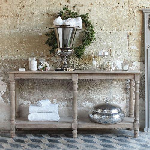 Drapier en manguier l 160 cm meuble drapier pinterest drapier console meuble et mobilier for Console de salle de bain