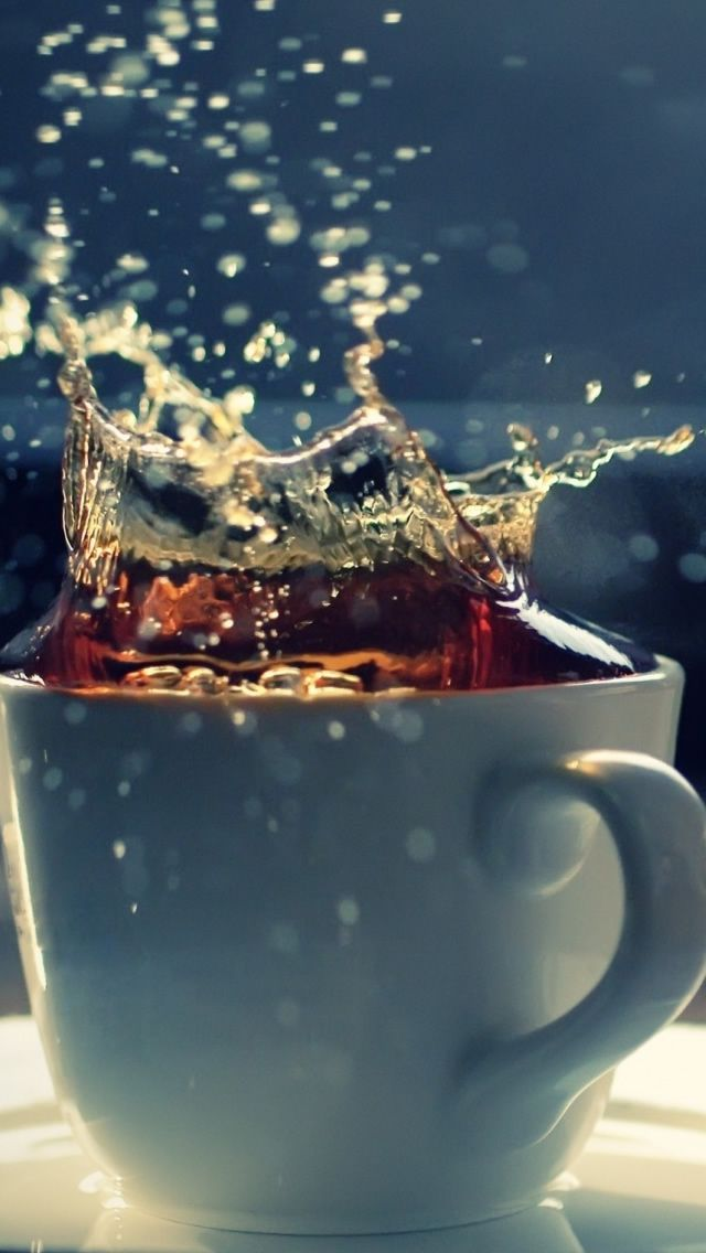 Splash In A Tea Cup In 2020 Tea Wallpaper Free Coffee National Coffee Day