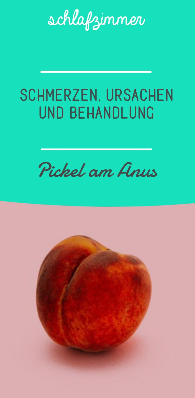 Am analausgang pickel Analdrüsenentzündung beim