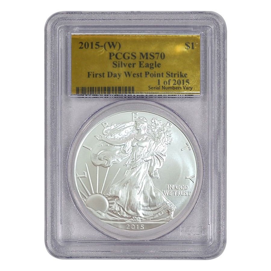 2015 W 1 Oz 1 American Silver Eagle Pcgs Ms 70 1 Of 2015 First Struck American Silver Eagle Silver Eagles Silver Bullion Coins